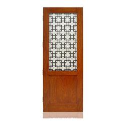 "Craftsman Collection | 2775 | 1-2 - Species:1/4 Ribboned African Mahogany Veneer, Distress: Smooth, Iron Work Color: Black,  Hinges: 4.- 4.5"" Ball Bearing Hinges US15, Exterior Door"