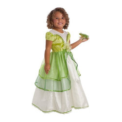 Little Adventures - Little Adventures Lily Pad Princess Costume with Optional Slip - LITL040 - Shop for Children Costumes from Hayneedle.com! It s green glamour with the Little Adventures Lily Pad Princess Costume with Optional Slip. The bodice is made of white stretch velvet and green china silk while the skirt is made of white china silk topped with two layers of green sheer fabric. Sequins a sheer fabric lily accent and an optional slip make it fit for a princess.Sizing Details:Small fits ages 1-3 yrs.Medium fits ages 3-5 yrs.Large fits ages 5-7 yrs.X-Large fits ages 7-9 yrs.About Little AdventuresWith humble beginnings Little Adventures was founded over 10 years ago by Jennifer Harrison (mom of 10) and Heather Granata (mother of 3) who began sewing and selling dress-up clothing at local craft fairs. Little Adventures then evolved into a successful business that aims to bring imagination and joy to children the world over. Their products are crafted of no-itch fabrics that are durable machine washable and the best in quality. And the critics agree - Little Adventures products have earned accolades from Creative Child Magazine Fat Brain Toy Awards The Toy Man and more.