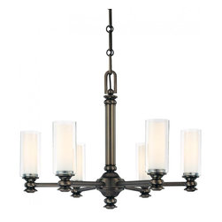 Minka-Lavery - Minka-Lavery Harvard Court 6-Light Chandelier - 4366-281 - This 6-Light candle chandelier has a bronze finish and is part of the Harvard Court Collection.