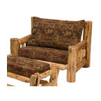 Fireside Lodge Furniture - Cedar Log Chair & a Half w Cushions (White Pi - Fabric: White Pine DuskCedar Collection. Includes seat cushions. Ottoman not included. Cushion is a high-density foam with Dacron wra for lasting comfort. Back cushion is an over-stuffed poly foam pillow. Full log back. Northern White Cedar logs are hand peeled to accentuate their natural character and beauty. Individually hand crafted. Clear coat catalyzed lacquer finish for extra durability. 2-Year limited warranty. 46 in. W x 38 in. D x 36 in. H (115 lbs.)