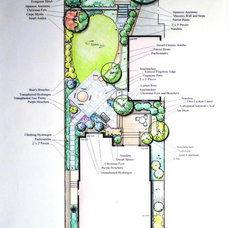 Traditional Site And Landscape Plan by Cathy Carr, APLD