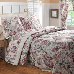 None - Emily 4-piece Full-size Comforter Set - Traditional floral print,reversing to a coordinating pin-stripe in warm colors on this the Emily comforter set will keep you comfortable with style. Lemon meringue-hues blend with earth tones and soft blossoms to create a peaceful mood.