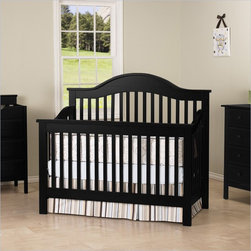DaVinci Jayden 4-in-1 Convertible Wood Baby Crib w/ Toddler Rail in Ebony - Jazz up your nursery with Jayden. This crib gives you a lifetime of quality with classic curves. In a few simple conversions, it becomes a toddler bed or a daybed. With the conversion kit, it becomes a full-sized bed! It's the joy of a Jayden. Furnish your complete nursery with any of the Roxanne case pieces.