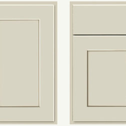 KraftMaid Willow Cabinet Door - Classic, off-while shaker door never goes out of style. This timeless style works in modern, vintage, classic, transitional, you name it. The slab top drawer makes this sleek enough to work in a modern kitchen.