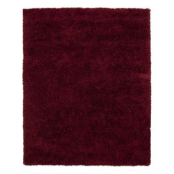 Surya Rugs - Surya MIL5004 Milan Plush Red Rug (2-Feet x 3-Feet) - 80% New Zealand Wool / 20% Polyester. Style: Plush. Rugs Size: 2' x 3'. Note: Image may vary from actual size mentioned.