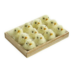 DOZEN YELLOW CHICKS - Chirp chirp! This set of a dozen chicks is so cute, you might need to get a few for your friends and family. They're an adorable addition to your Easter spread and look good in an Easter gift basket.