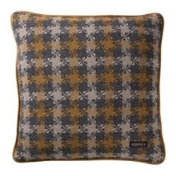 Thomas Kay Houndstooth Pillow, Steel Gray