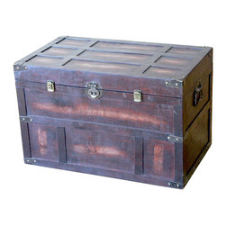 Old Style Large Cedar Chest - Our warm and welcoming steamer trunk brings back days of old time. Remember how excited you are when you were a little kid to look into your grandma's old chest, our decorative trunks will bring back those memories and help you create some new ones too. Our hope chest boxes are all handcrafted and tailored to enhance the existing decor of any room in the home. Great to use for your very own treasure chest!