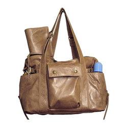 Not Rational - Hansel Leather Diaper Bag - Champagne - Hansel Diaper Bag - Champagne