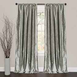 Lush Decor - Lush Decor Velvet Dream Silver 84-inch Curtain Panel Pair - Some fabric were made to be displayed because of their beauty and there is no better example of this than the Velvet Dream curtains. The plush velvet fabric is soft to the hand and the curtains hang elegantly.