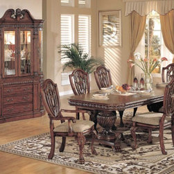 Yuan Tai Furniture - Reuben 6 Piece Dining Room Set - RE8198T-6SET - Set includes Dining Table, 4 Side Chairs and Hutch/Buffet