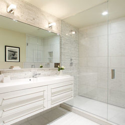 Manhattan Luxury Bathrooms | Chelsea Condo New Contemporary Bath | CItizenNYC.co
