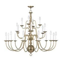 Joshua Marshal - Twenty Two Light Antique Brass Up Chandelier - Twenty Two Light Antique Brass Up Chandelier