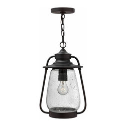 Hinkley Lighting - Hinkley Lighting 2092SB Calistoga Traditional Outdoor Hanging Light - Calistoga's historically-inspired design combines the vintage appeal of a classic pioneer lantern with updated lines and construction.  This solid aluminum collection features a rich Spanish Bronze finish and clear seedy glass globe for authentic charm.