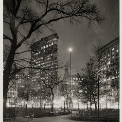 Eternal Light and Flatiron Building at Night Print - Eternal Light and Flatiron Building at Night, created in 1937 by Vincent Lopez in 1937.