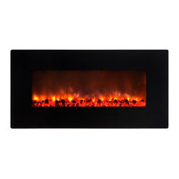 Yosemite Home Decor - Yosemite Home Decor DF-EFP900 Small Glass Wall Hang Electric Fireplace - Faux St - The DF-EFP900 by Yosemite Home Decor is a perfect addition to a contemporary or modern interior. It is very easy to install-as easy as hanging artwork or a picture frame-thus making it easy for you to move it around to a suitable placement. The height and intensity of the flames produced by the DF-EFP900 can be controlled with the included remote. The ambiance of the room is in your power. Yosemite Home Decor's DF-EFP900 is a simple, yet powerful and gorgeous inclusion to any room.