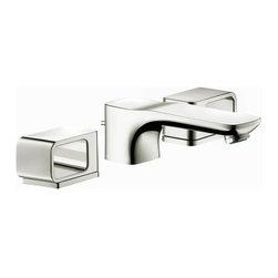 Hansgrohe - Hansgrohe Axor Urquiola Widespread Faucet, Polished Nickel (11041831) - Hansgrohe 11041831 Axor Urquiola Widespread Faucet, Polished Nickel