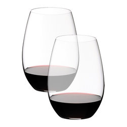 Riedel - Riedel O Syrah/Shiraz Glasses - Set of 2 - Stylish, practical and fun. Riedel O is the original varietal specific wine tumbler. Gift boxed in pairs. non lead, machine made.