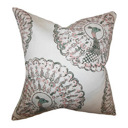 The Pillow Collection - Ieesha Pink and Green 18 x 18 Animal Print Throw Pillow - - Pillows have hidden zippers for easy removal and cleaning  - Reversible pillow with same fabric on both sides  - Comes standard with a 5/95 feather blend pillow insert  - All four sides have a clean knife-edge finish  - Pillow insert is 19 x 19 to ensure a tight and generous fit  - Cover and insert made in the USA  - Spot clean and Dry cleaning recommended  - Fill Material: 5/95 down feather blend The Pillow Collection - P18-D-PABOREAL-PINKGREEN-C95-L