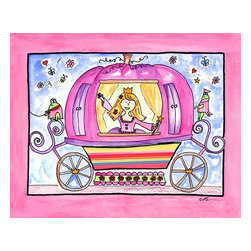 Oh How Cute Kids by Serena Bowman - To The Ball, Ready To Hang Canvas Kid's Wall Decor, 8 X 10 - Part of my Fairy Tale Princess series. So far as I can remember we have Sleeping beauty, Cinderella, Alice in wonderland, Rapunzel, Princess and the Pea and probably a couple more that I am forgetting!  Each are sold separately but coordinates with everything in the series for an easy fun room decor!