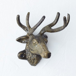 Trophy Hook, Reindeer - Use these darling antler hooks to hang up your winter coat.