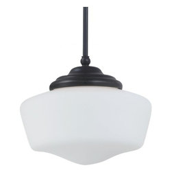 Sea Gull Lighting - Sea Gull Lighting 65438 Academy Large One Light Pendant - The Academy Collection of pendants reinterpret the classic utilitarian schoolhouse fixture with contemporary materials and design.Features: