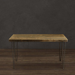 Reclaimed Wood Console Table, Natural Finish by J.W. Atlas Wood Co. - Though hairpin legs are becoming an overdone trend, this handmade console table is beautiful.