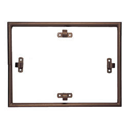 """Antique Drapery Rod - """"Campaign Bed"""" Ceiling Rectangle, Italian Walnut, 36"""" X 48"""" - For use with rod pocket drapery.  Includes ceiling brackets for mounting."""