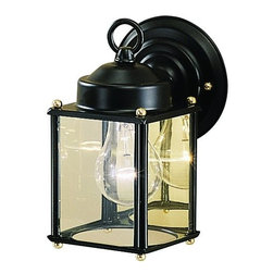 "Kichler - Kichler 9611BK No Family Collection 1 Light 8"" Outdoor Wall Light - Product Features:"
