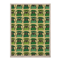 """Kess InHouse - Holly Helgeson """"Vintage Telephone"""" Green Pattern Naturals Canvas (24"""" x 36"""") - Display your favorite KESS Naturals Canvas with organic elegance. KESS InHouse is proud to feature our entire artist gallery as the KESS Naturals collection. These unique artworks are recreated on a recycled burlap using only eco-friendly inks. They have a rustic fabric feel that we suggest framing without glass to fully convey the luxe texture of these prints. This eco-friendly material has been used by artists for centuries as an alternative to canvas. Upon ordering you will receive the artwork frameless to give you the best possible shipping and framing flexibility."""