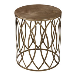 Sterling Industries - Sterling Industries 138-009 Sutton-Accent Table In Gold Leaf - Accent Table (1)