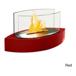 None - Lexington Table Top Ethanol Fireplace - Add a touch of style to your table with this ethanol fireplace from Lexington. A tempered glass finishes this free-standing fireplace.