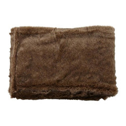 Home Decorators Collection - Faux-Fur Throw - This faux-fur throw, available in your choice of cool colors and realistic patterns, is perfect for keeping handy in your living room for those cold winter nights. And, with so many color and pattern options to choose from, this fur blanket will make a wonderful addition to your home decor. Quality crafted of durable synthetic materials for years of lasting beauty and use. Makes a great gift idea for any occasion.