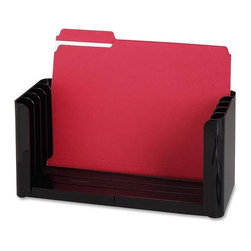 "Sparco - Sparco Adjustable File Holder, 6.1""x15.5""x5.4"" - Adjustable file holder features five slots to hold and organize letter-size or legal-size file folders, notepads, accounting pads or even phone books. When not in use, file holder folds flat for storage. It is made of polystyrene plastic."