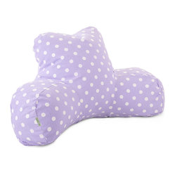 Indoor Lavender Polka Dots Reading Pillow