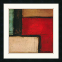 "Amanti Art - ""Merge"" Framed Print by Candice Alford - Candice Alford's print is perfect for when you want a piece of interesting art as well as a burst of color for your room. The deep red hue blends well with earthy tones and livens up the space you place it in."