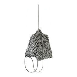 ecofirstart - Knit Hanging Light - Knit Rubber Hanging Light.