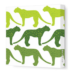 Avalisa - Animal - Cheetah Stretched Wall Art, 12cm x 12, Green Hue - Who said cheetahs never win? This winning wall hanging comes in your choice of color combinations and sizes so you can hang it easily with pride. Snap this one up. Cheetahs move pretty fast.