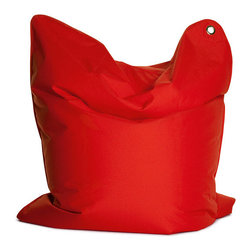 Sitting Bull USA - Sitting Bull The Bull Flame Red Bean Bag - This awesome large beanbag may be used as a chair, mat or small mattress. This unique seating solution is perfect for your child to have their own space.