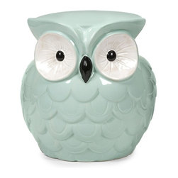 IMAX CORPORATION - Hoot Owl Aqua Garden Stool - Who doesn't love this collection of small scale garden stools? They bring bold color, whimsical style and a resting place to any area. Find home furnishings, decor, and accessories from Posh Urban Furnishings. Beautiful, stylish furniture and decor that will brighten your home instantly. Shop modern, traditional, vintage, and world designs.