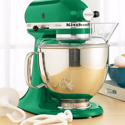 KitchenAid Stand Mixer - I love the fresh kelly green color of this KitchenAid mixer, the cornerstone of a spring green kitchen.