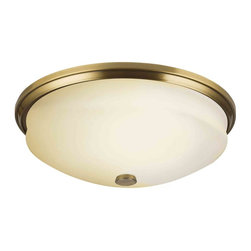 Kichler Lighting - Kichler Lighting 10409AB Pierson Antique Brass Flush Mount - 3, 13W G24Q Fluorescent