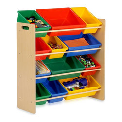 Honey Can Do - Primary Colors Kids Storage Organizer - Keep the chaos organized with this kids storage organizer. This organizer features the primary colors.