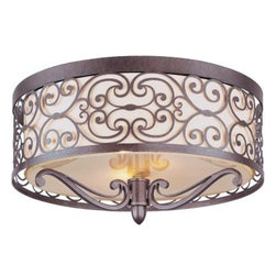Maxim Lighting - Maxim Lighting 21151WHUB Mondrian 2-Light Flush Mount In Umber Bronze - Features