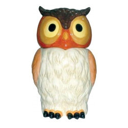 Westland - 11 Inch 11 Inch Owl Staring Straight at You Multi-Colored Cookie Jar - This gorgeous 11 Inch 11 Inch Owl Staring Straight at You Multi-Colored Cookie Jar has the finest details and highest quality you will find anywhere! 11 Inch 11 Inch Owl Staring Straight at You Multi-Colored Cookie Jar is truly remarkable.