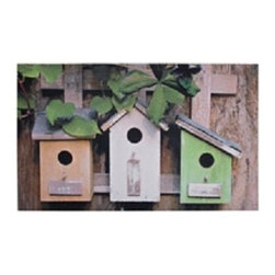 Esschert Design - Printed Doormat -Birdhouses - Proclaim your home as a welcoming environment from the very first step your guests take, with this inviting birdhouse doormat. Whether your friends have wings or not, they'll love this whimsical way to be greeted. This ecofriendly rubber doormat is easy to clean, providing both fun and function for your doorstep.
