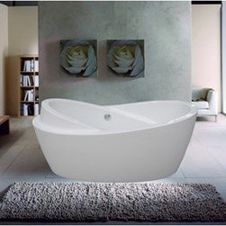 "Aquatica - Aquatica PureScape 272 Freestanding Acrylic Bathtub - White - Treat yourself and soak in peaceful tranquility with Aquatica's stylish and ergonomic PureScape 272 freestanding bathtub. Aquatica challenges everything we thought we knew about a bathtub with the world-class modern design and ergonomic features that are incorporated into all of their luxury tubs. Aquatica Purescape bathtubs are as pleasing to the eye as they are to soak in. Their striking visual appeal adds a mesmerizing modern elegance to any bathroom. From the finest selection of raw materials all the way to the high-class design, Aquatica has spared no expense to innovate and create some of the highest quality bathtubs in the world.Aquatica's bathtubs offer modern glamour at affordable prices. The Aquatica line is diverse enough to encompass both bathtubs with classical elegance that match the style of your bath and bathtub models that are distinctive and unique as the centerpiece of your remodel.FeaturesStriking upscale modern designFreestanding constructionSolid, one-piece construction for safety and durabilityExtra deep, full-body soakErgonomic design forms to the body's shape for ultimate comfortQuick and easy installationConstructed of 8mm thick 100% heavy gauge sanitary grade precision acrylicPremium acrylic and tub thickness provides for excellent heat retentionHigh gloss white surfaceColor is consistent throughout its thickness ? not painted onColor will not fade or lose its brilliance overtimePreinstalled cable drive pop up and waste-overflow fitting includedDesigned for one or two person bathingNon-porous surface for easy cleaning and sanitizingBuilt-in metal base frame and adjustable height metal legsChrome plated drain5 Year Limited WarrantyCode compliant with American standard 1.5"" waste outletsSpecifications:Overall Dimensions: 69 in. L X 33.5 in. W X 30.25 in. HDepth to Overflow Drain: See Spec SheetInterior Depth: See Spec SheetInterior Length (Top): See Spec SheetInterior Width (Top): See Spec SheetInterior Length (Bottom): 45.25 in.Interior Width (Bottom): 19.75 in.Weight: 116 lbsCapacity: See Spec SheetShape: OvalDrain Placement: CenterSpec SheetNote: This model usually ships in 1-2 days. Please allow an additional 2-3 business days for order transmittal and verification."