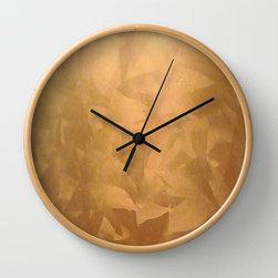 Brushed Copper Metallic Wall Clock - Corbin Henry