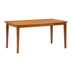 Boraam - Hardwood Rectangular Shaker Style Dining Tabl - 55 mm. thick leg. 20 mm. thick top. Made from Solid hardwood. Apron: 70 mm.. Overall: 62 in. W x 36 in. D x 30 in. H