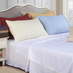 Home City Inc - Vanessa Collection 1500 Series Microfiber Wrinkle Resistant Stripe Bed Skirt - M - Shop for Bedskirts from Hayneedle.com! No boutique hotel-inspired bedroom suite would be complete with this Vanessa Collection 1500 Series Microfiber Wrinkle Resistant Stripe Bed Skirt. This bed skirt is crafted of luxuriously soft 1500-thread count brushed microfiber. It comes in size options and a wide variety of colors. Bed Skirt Dimensions:Twin XL: 39 x 80 inchesQueen: 60 x 80 inchesKing: 78 x 80 inchesAbout Home City Inc.Established in the 1980s in Queens New York selling towels and lower-thread-count sheets Home City Inc. started in small office and has developed into a worldwide manufacturing and importing company based out of Brooklyn NY. They were able to establish the name Home City Inc. in 2003 which set the tone for the growth in a company that boasts over 25 years of experience in production. Over the years Home City has developed and perfected unparalleled quality products that now serve domestic and international retail stores. Today Home City's fulfillment center is located in Linden NJ with a showroom on Fifth Avenue in New York NY allowing them to provide their customers with an expanded selection of sheet sets duvet cover sets bed skirts pillowcase sets bed-in-bag sets down comforters mattress toppers pillows quilts robes towel sets and more.